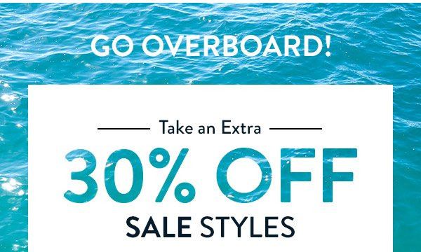 TAKE AN EXTRA 30% OFF SALE STYLES