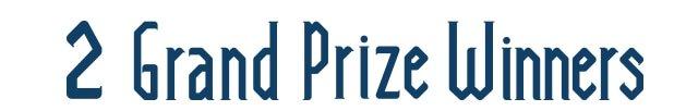 2 Grand-Prize Winners