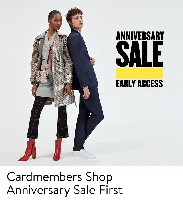 Cardmembers Shop Anniversary Sale First