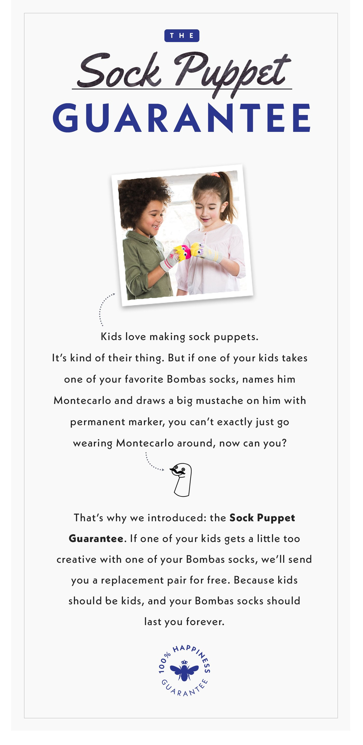 Bombas: Introducing The Sock Puppet Guarantee | Milled