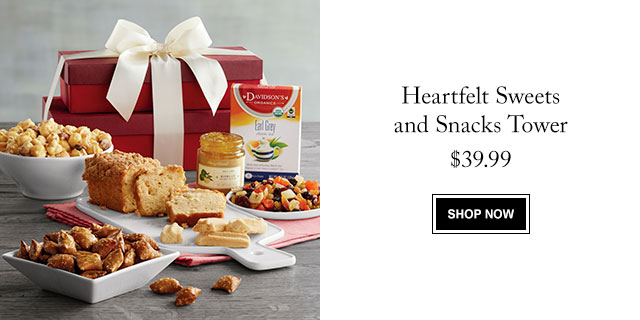 Heartfelt Sweets and Snacks Tower
