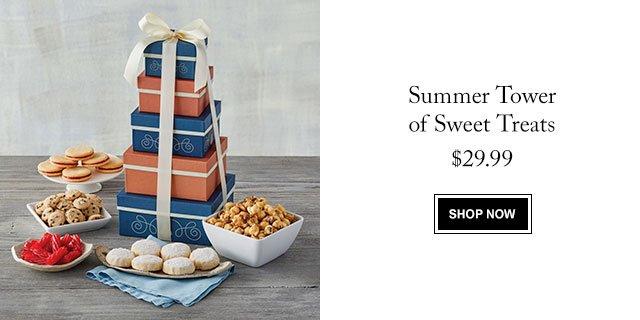 Summer Tower of Sweet Treats