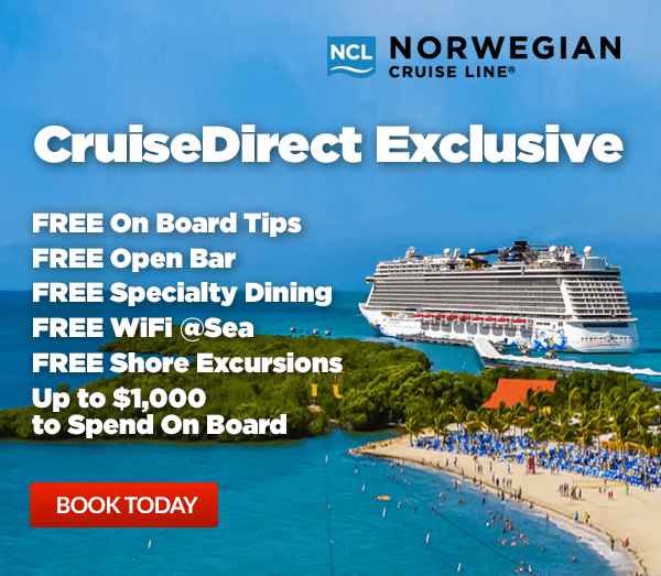 CruiseDirect: Norwegian Cruises from $289 + Free Tips + Free Open