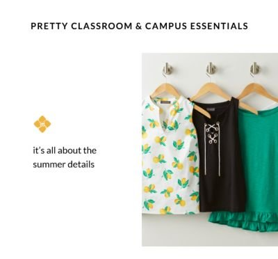 Pretty Classroom & campus essentials - It's all about the summer details
