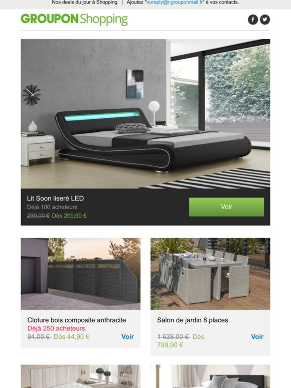 Groupon FR Email Newsletters: Shop Sales, Discounts, and ...