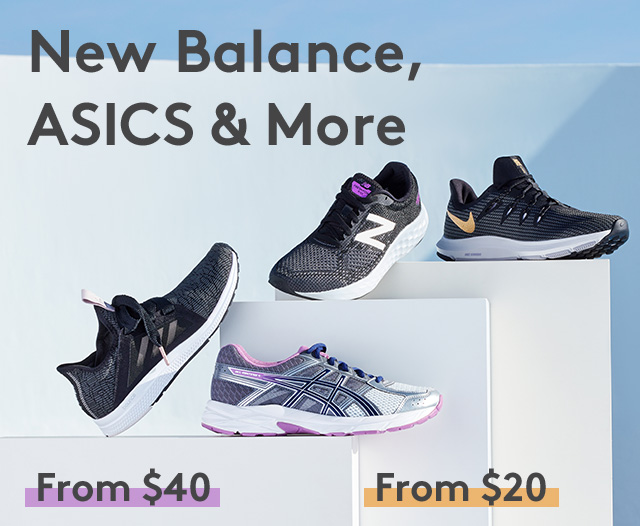 New Balance, ASICS & More | From $40 | From $20