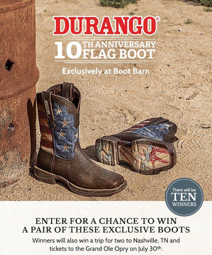 4cbb1ffab8a BootBarn.com: You Could Win Durango's 10th Anniversary Flag Boots, A ...