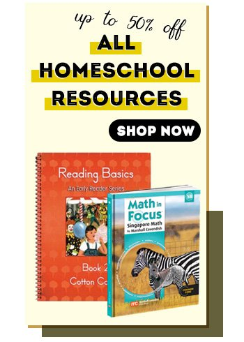 All Homeschool Resources - up to 50% off
