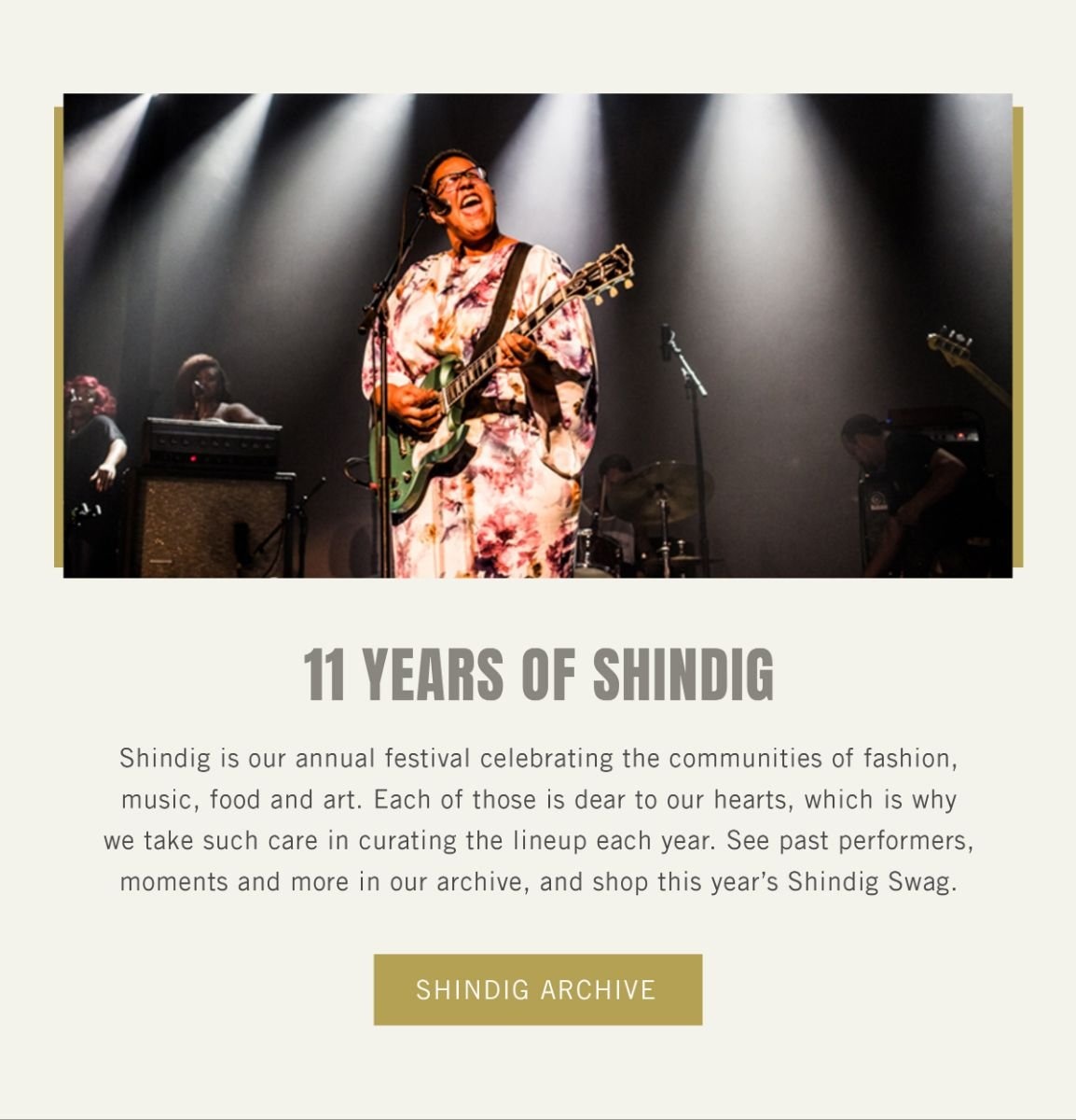 11 Years of Shindig - Shindig Archive and Shop