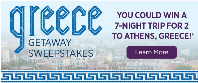 Greece Getaway Sweepstakes - Learn More