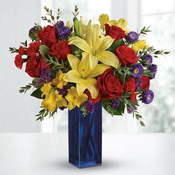 Teleflora's Flying Colors Bouquet