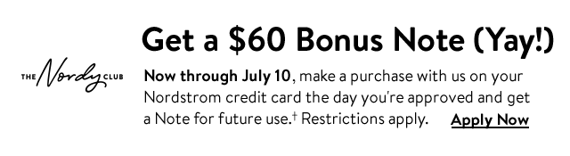 Get a $60 bonus Note (yay!) with The Nordy Club.