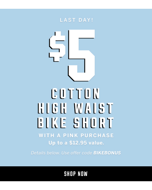 Last Day! $5 Cotton High Waist Bike Short