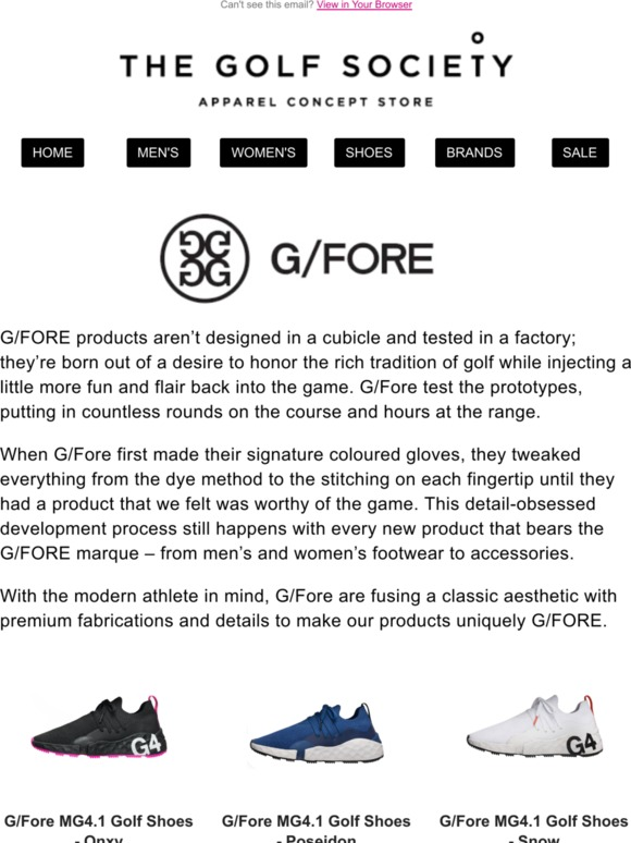 The Golf Society: NEW FROM G/FORE | Milled