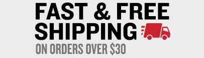 Fast & Free Shipping On Orders Over $30