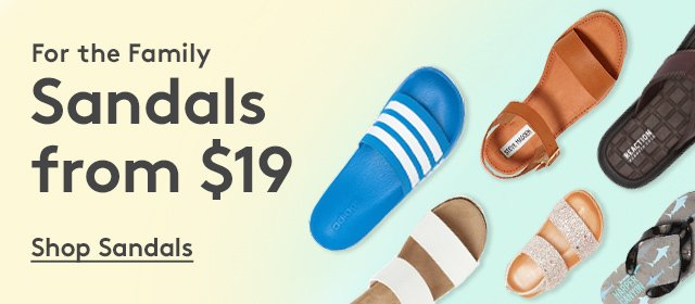 For the Family | Sandals from $19 | Shop Sandals