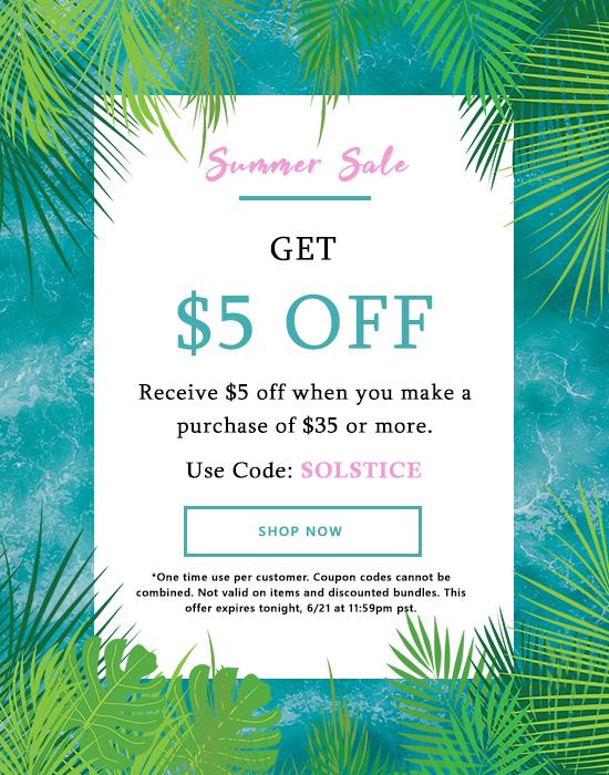 Summer Sale $5 off $35