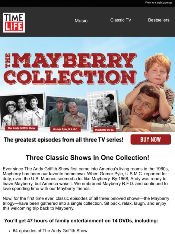 TimeLife com: Reminder, Brand New: The Mayberry Collection! | Milled