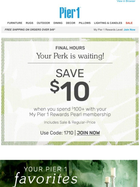 Pier 1 Tick Tock Use Your Perk On These Favorites Before