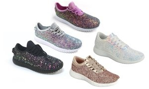 Epic Step Women's Glitter Sneakers