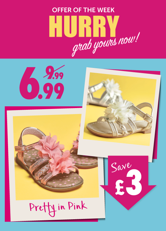 Save £3 on Girls Sandals