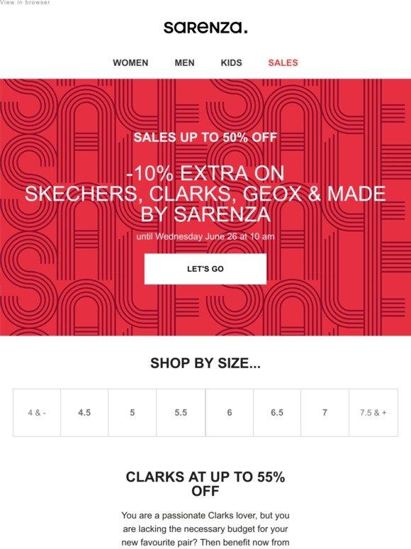 Sarenza: Skechers, Clarks, Geox & Made by Sarenza: Up to 50
