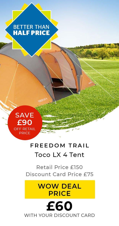 Freedom Trail Toco LX 4 Tent