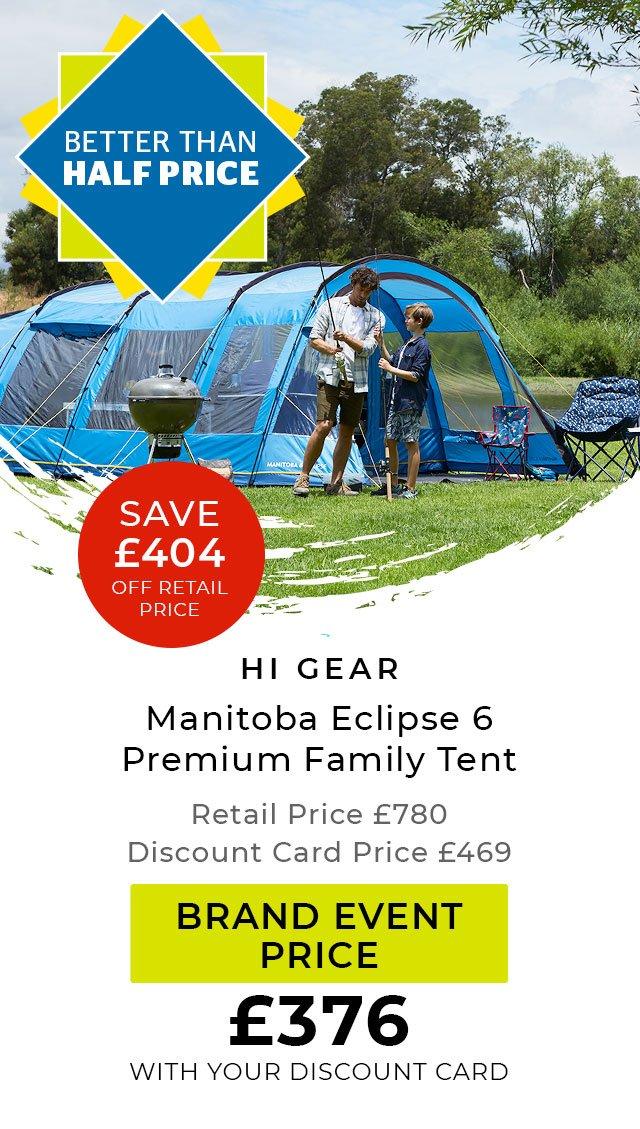 Hi Gear Manitoba Eclipse 6 Premium Family Tent