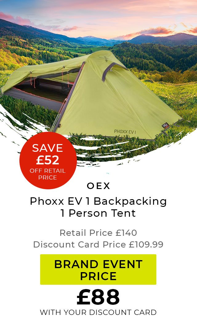 OEX Phoxx EV1 Backpacking 1 Person Tent