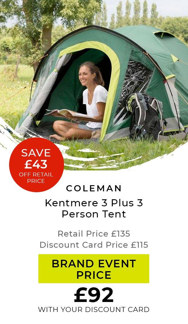 Coleman Kentmere 3 Plus 3 Person Tent