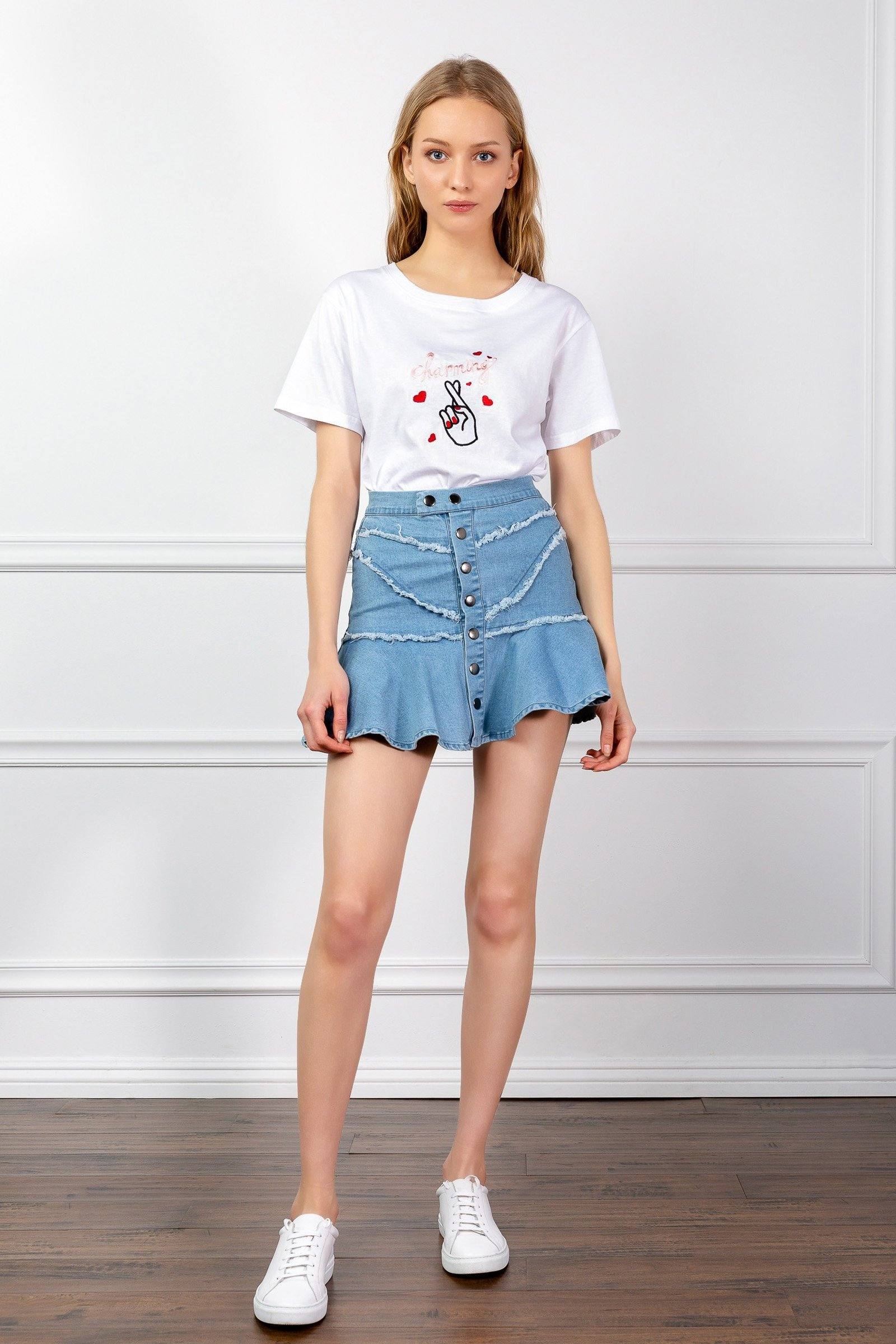 Image of THE DOWNTOWN DENIM SKIRT