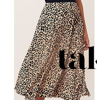 LEOPARD PLEATED SKIRT - SHOP NOW
