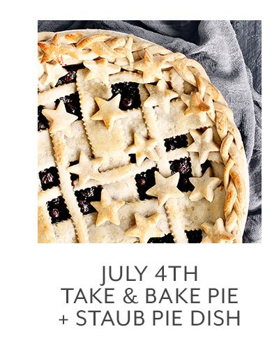 Class: July 4th Take & Bake Pie + Staub Pie Dish