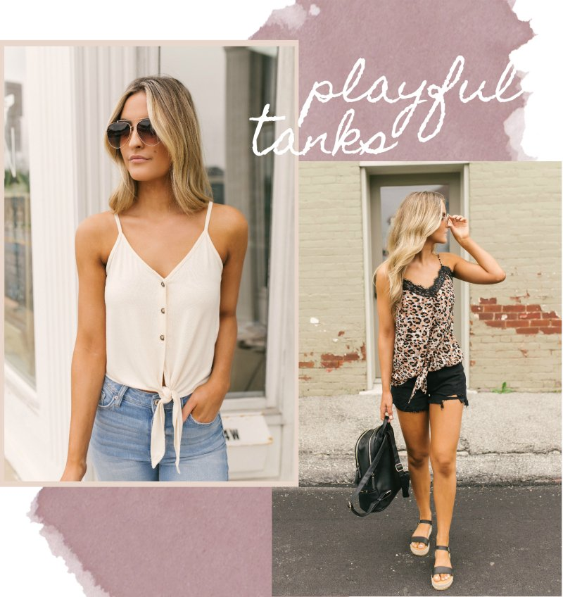 solid and leopard knot tank