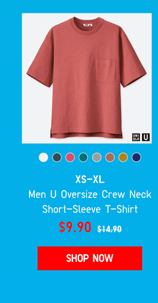 BODY3 PDP1 - MEN U OVERSIZE CREW NECK SHORT-SLEEVE T-SHIRT