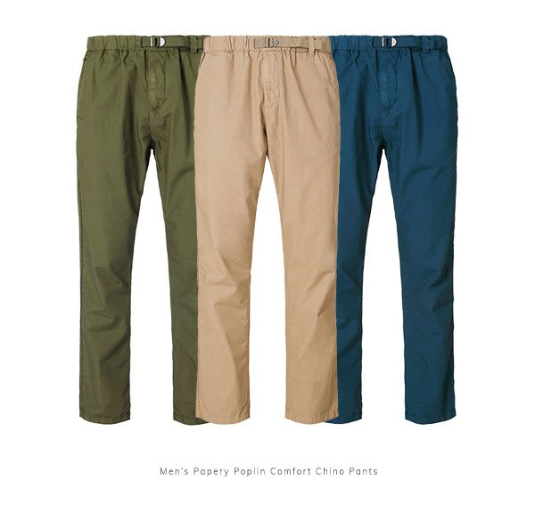 Men's Papery Poplin Comfort Chino Pants