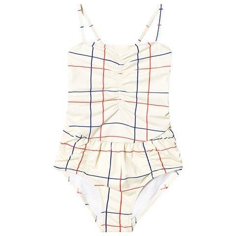 Bobo Choses Cream Lines Swimsuit