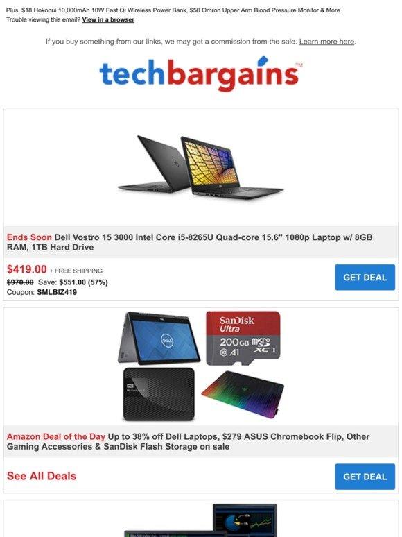 Techbargains: Just $419 for Dell Vostro Core i5 15 6