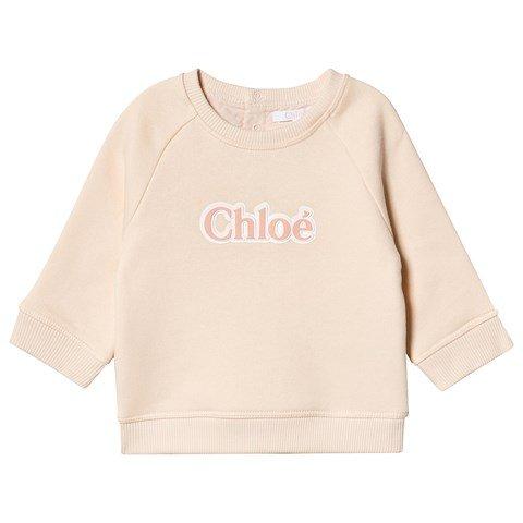 Chloé Pink Logo Sweatshirt