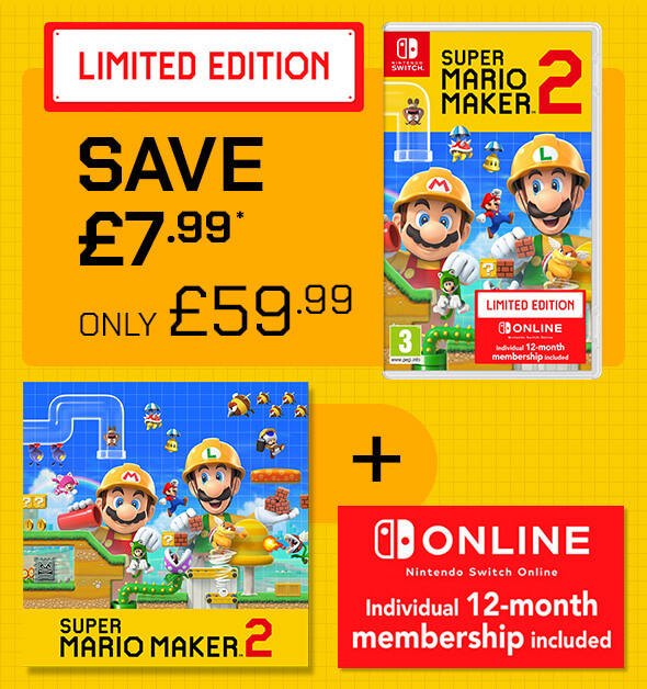 Nintendo: Save £7.99 on Super Mario Maker 2 + Nintendo Switch Online    Milled
