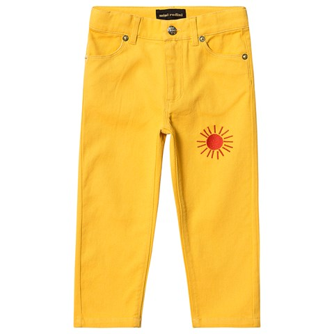 Mini Rodini Yellow Sun Twill Jeans