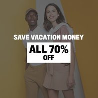 Save vacation money - All 70 % off