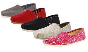 Toms Women's Slip-On Shoes Available in Medium and Wide Widths