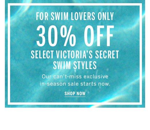 30% off select swim styles