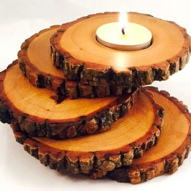 Spiral Wood Candle Holder available on WisconsinMade Artisan Collective