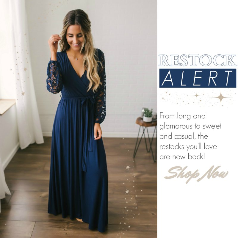 navy lace sleeve maxi dress