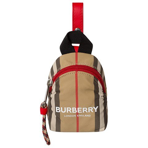 Burberry Beige Heritage Stripes Backpack Coin Purse