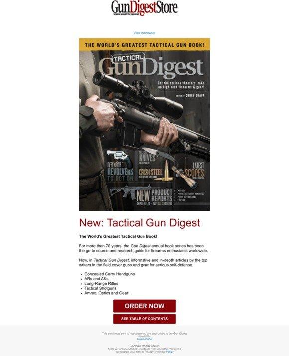 gundigeststore com: New Release: Tactical Gun Digest | Milled