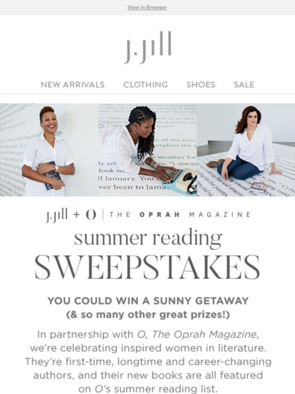 J Jill: Enter to win a sunny getaway in our Summer Reading