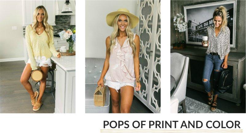 printed spring tops